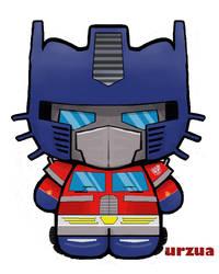 optimus prime kitty by rancid1881