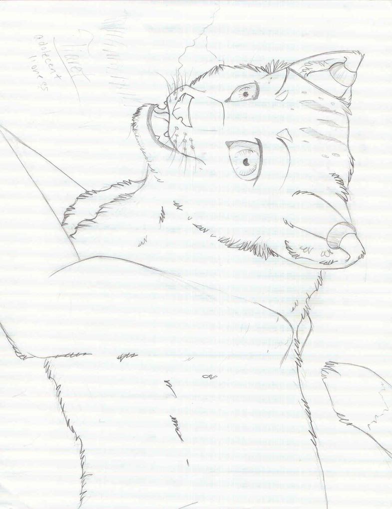 Tiaret-sketch by SnowyKitsune