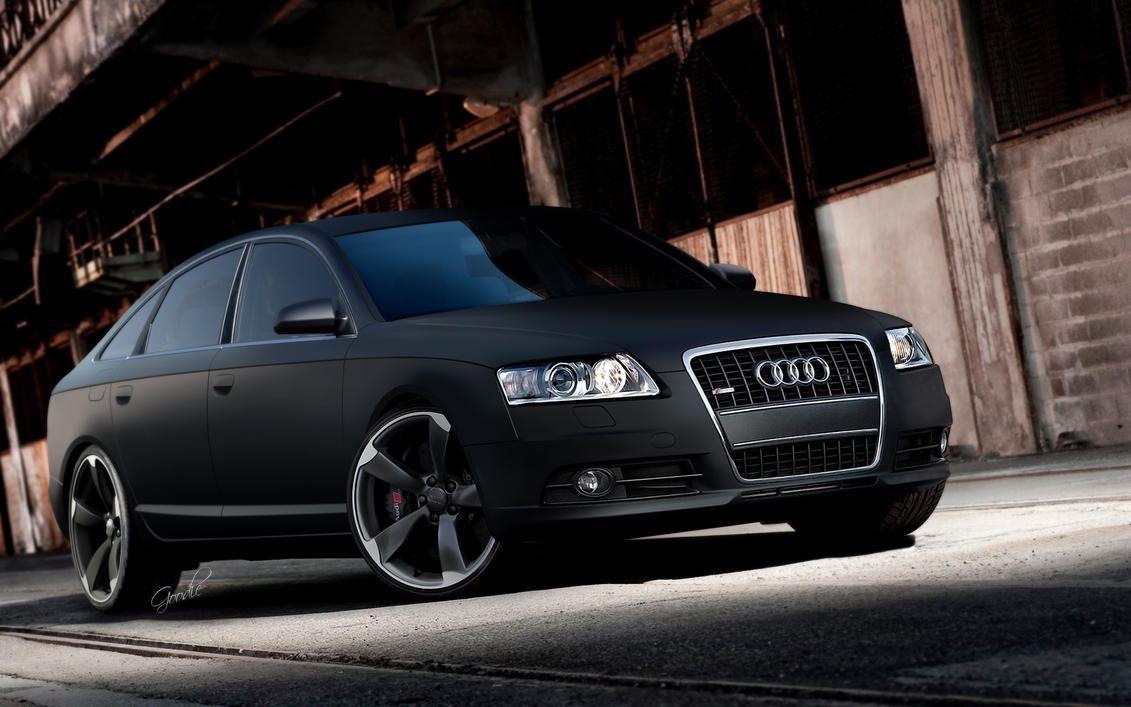 matte black audi a6. audi a6 sline by goodiedesign matte black o