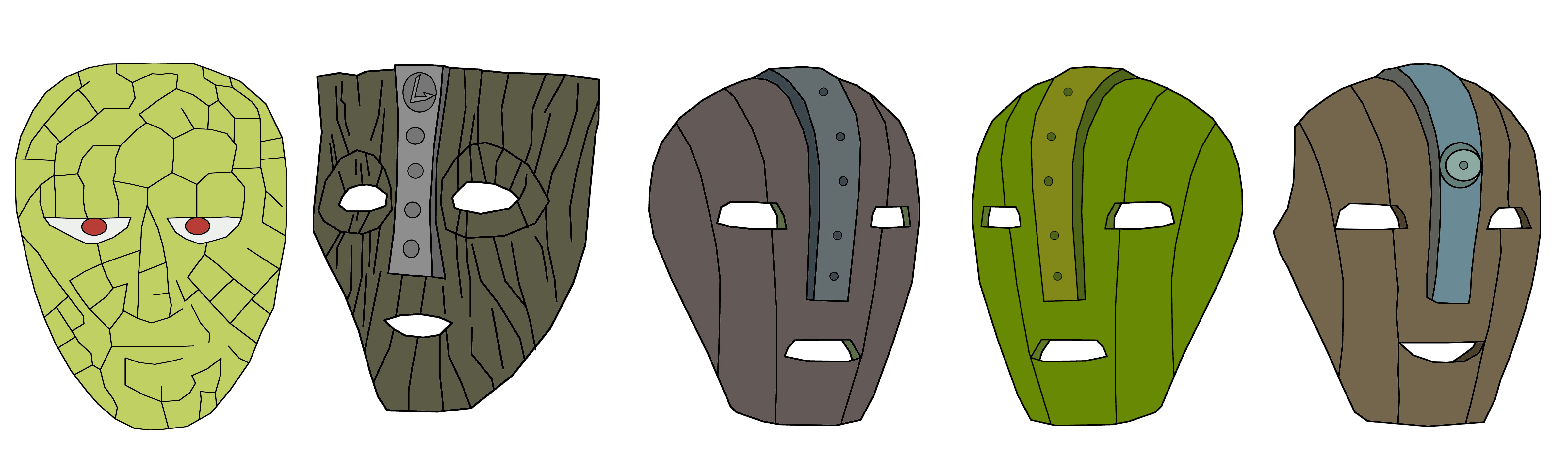 The Mask All Versions Color by Hyperomegasonic