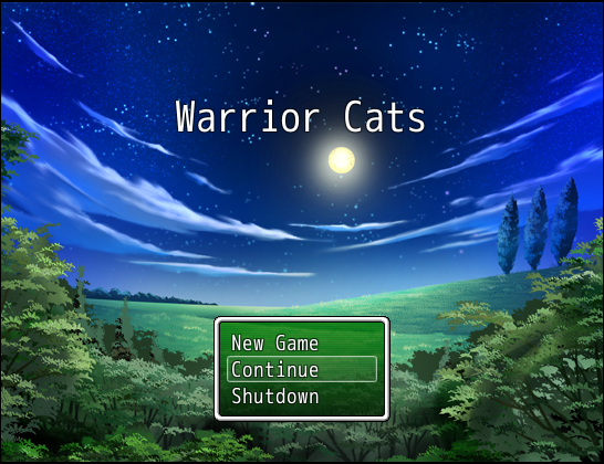 Warrior Cats Game Title Screen by TheAwesomeHetalian on
