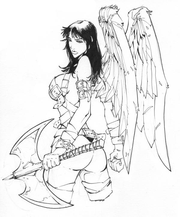 tatuaże wzory anioł