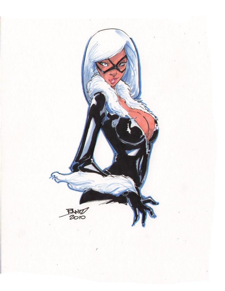 Черная кошка  человек паук