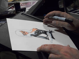 drawing the black kitty