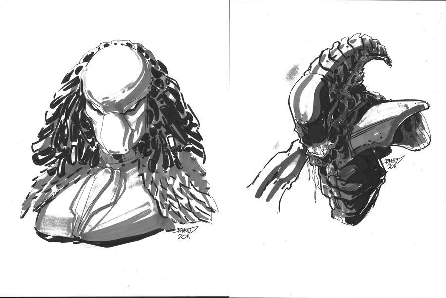 20 Commission Alien Predator by rantz