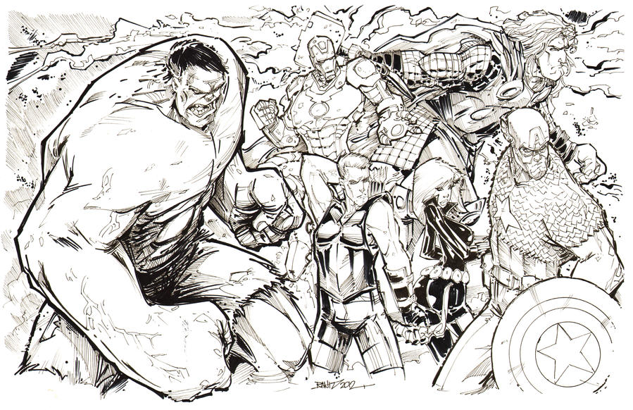 avengers assemble marvel coloring pages - photo#25