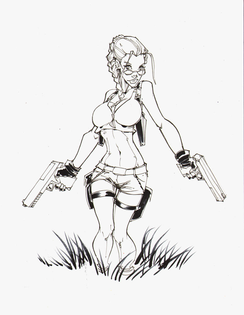 tomb lara croft raider inks by rantz