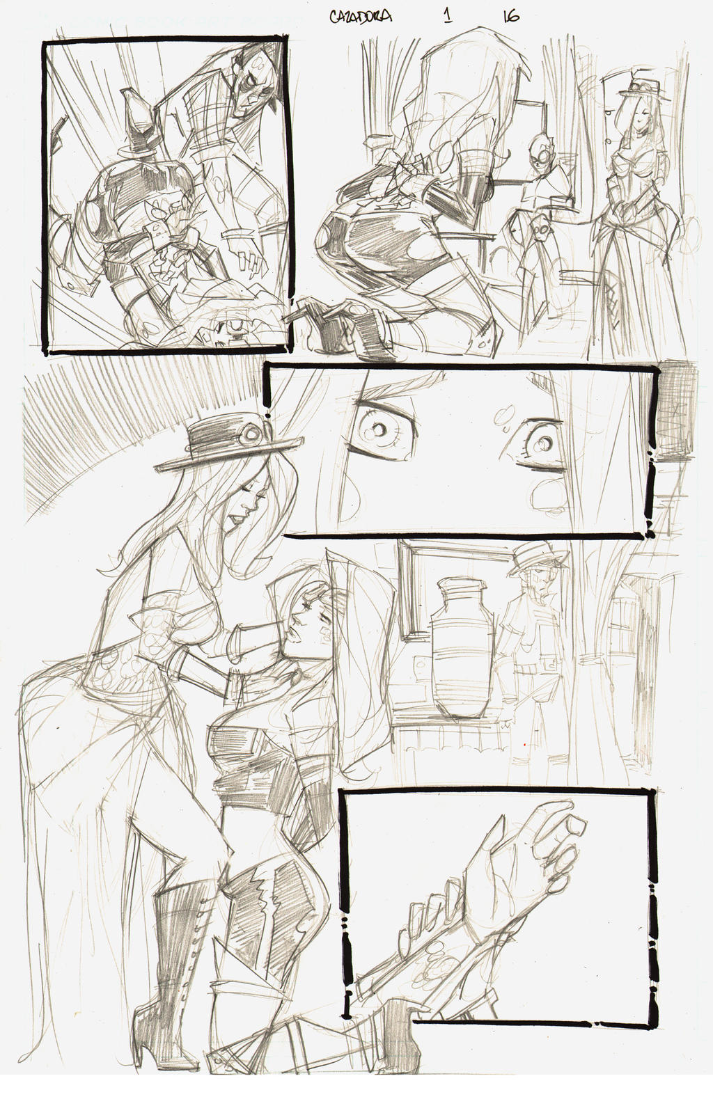 Cazadora Page 16 Pencils for INKERS by rantz