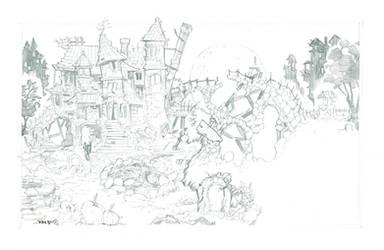 Inktober HauntedVille HIGH RES Pencils by rantz