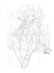 SciFi Girl High Res Pencils by rantz
