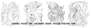 COLORING BOOK SAMPLE PAGES WATER