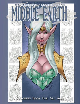 Middle-Earth Coloring Book Front Cover