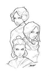 Women of Star Wars by rantz