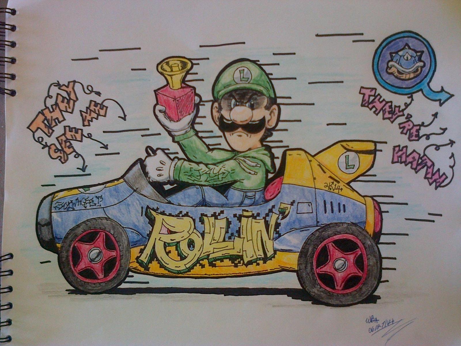 Luigi Death Stare Ridin Dirty By Waldenbjaywiigee93 On