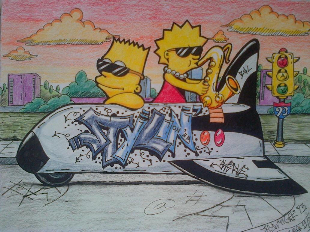 The Simpsons Graffiti by WaldenBJayWiiGEE93 on DeviantArt