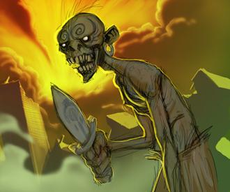 some kinda zombie by drazebot
