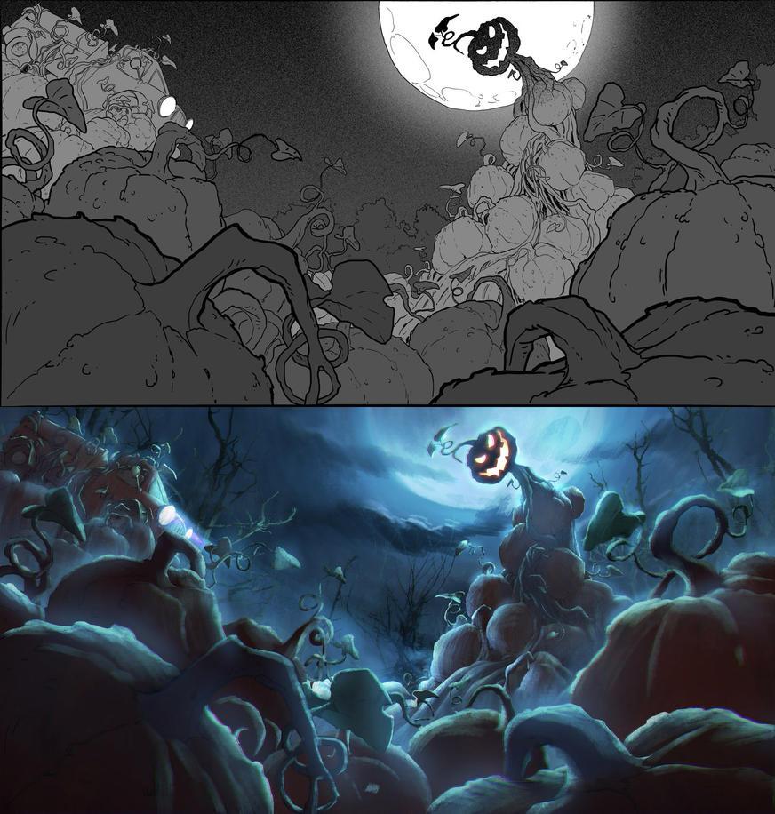 Pumpkin monster by drazebot