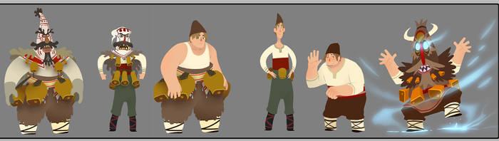Costumed guys by drazebot