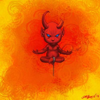 hellish_child_maditating by drazebot