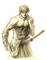 one handed samurai by drazebot