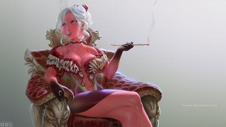 Demonic mistress Cadence (commission)