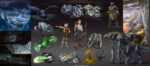 Concept artist challenge RPG2 - Compilation [2015]