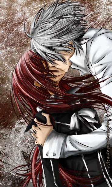 Zero Yuki kiss by vvica on DeviantArt