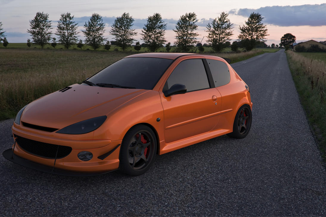 peugeot 206 rc by justdragos on deviantart. Black Bedroom Furniture Sets. Home Design Ideas