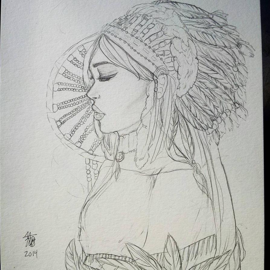 [sketch] Dreamcatcher by magicalbelievers