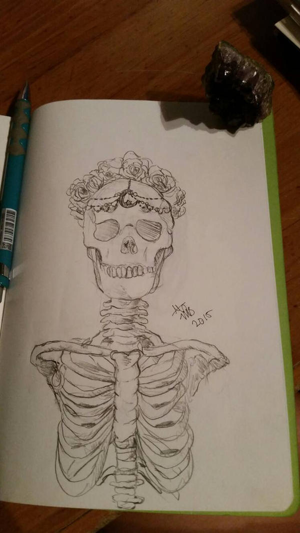 Flower Child Skeleton by magicalbelievers