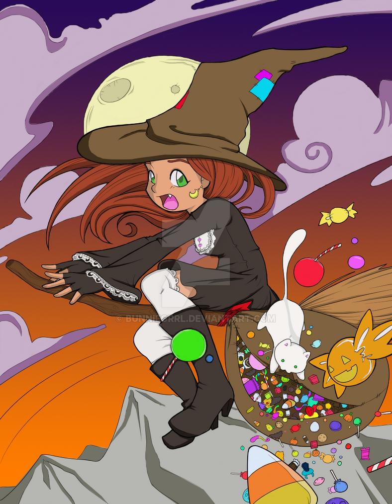 Halloween Fiasco [Colored] by bunniegrrl