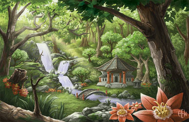 Secluded Temple by AlvinHew