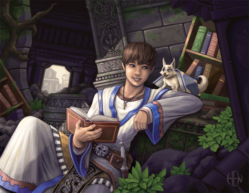 Young Wizard Fantasy Art Paulinelibutti