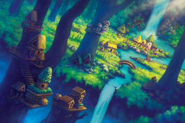 Fairy Village by AlvinHew
