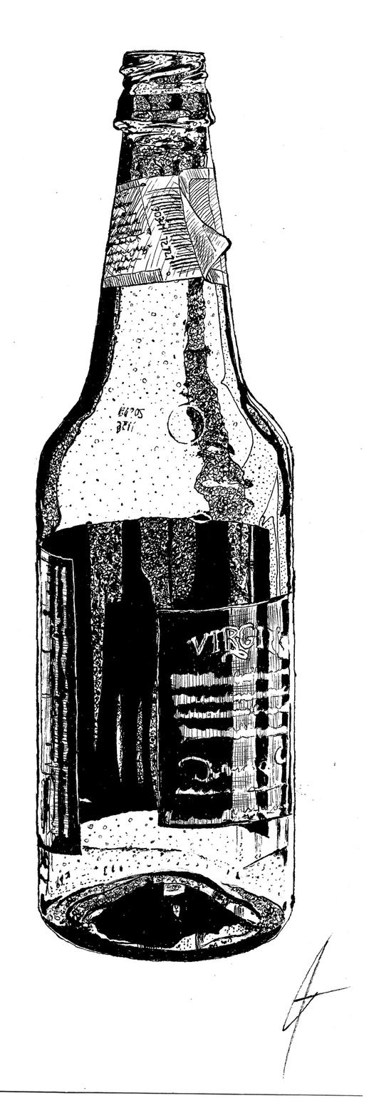 Root Beer Bottle Sketch by Joe-Man on DeviantArt