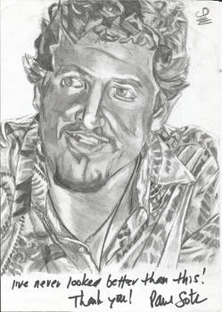 Paul Soter autographed drawing