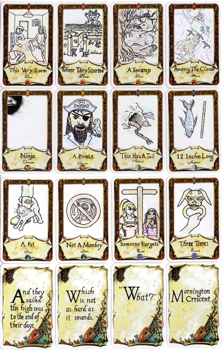 Once upon a time card pdf