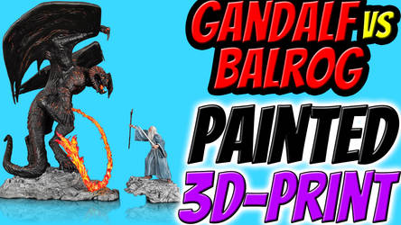 Gandalf VS Balrog the 3D printed movie! by andreasfendt