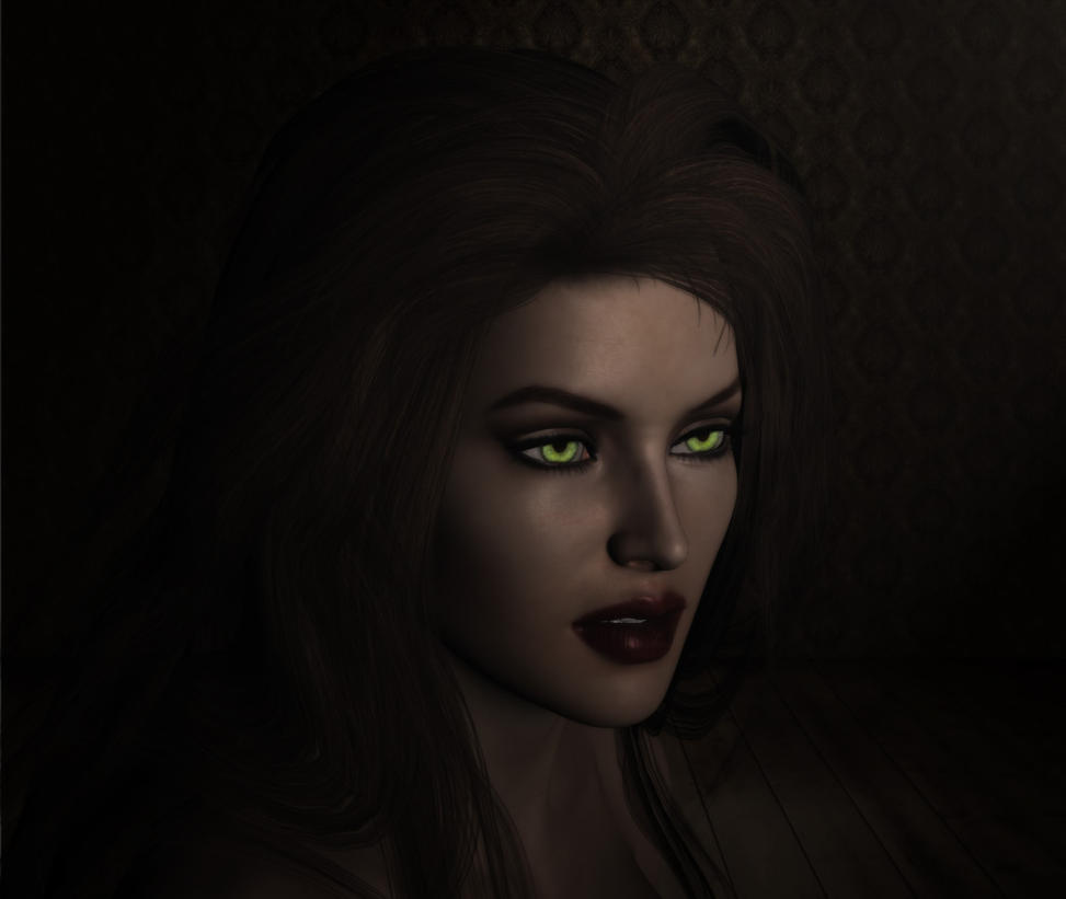 Her Green Eyes.. by Pagunus