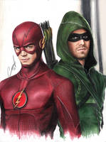 arrow flash grant stephen amell hero realistic by CansuVURAL