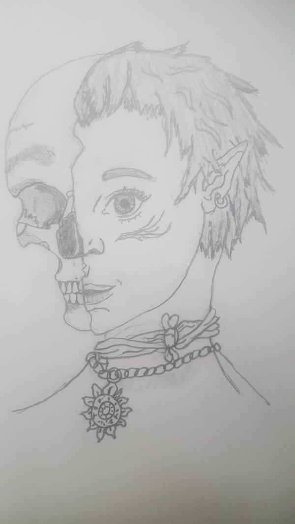 Quick sketch Xillie The Half Elf Skeleton