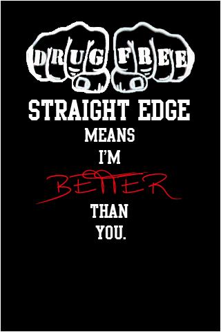 Straight Edge Ipod Wallpaper 2 By Bloure On Deviantart