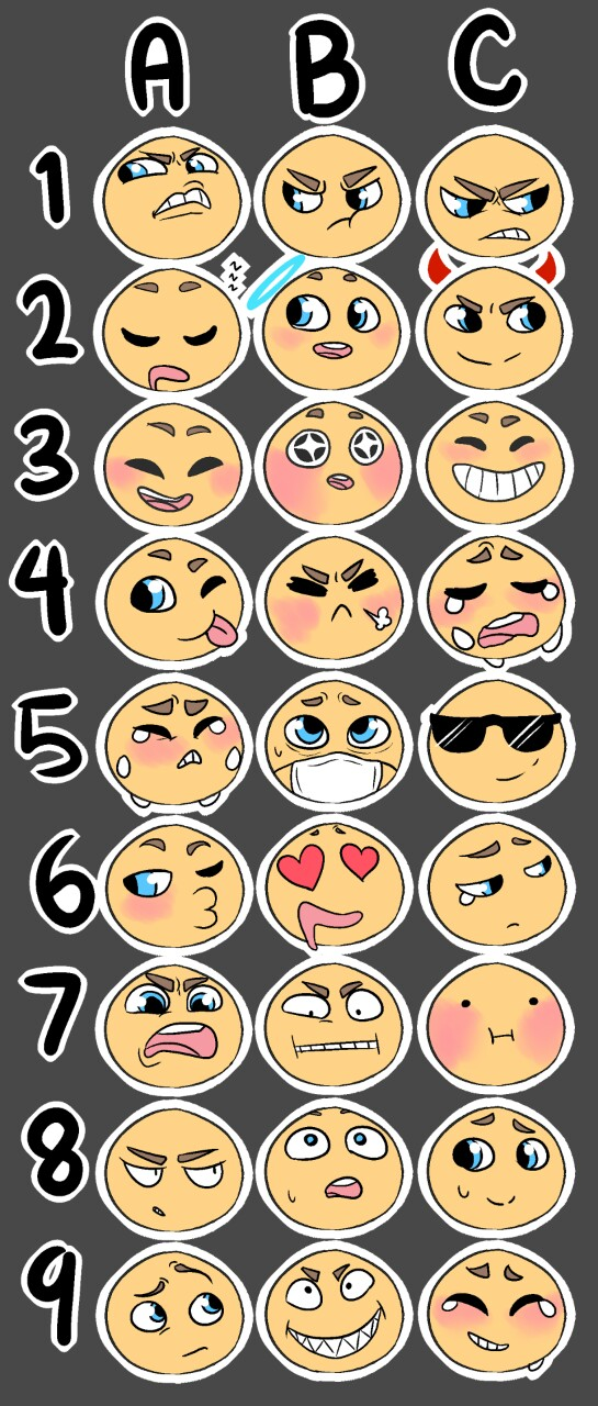 Send Me A Character And An Emoji By Yoru The Rogue On Deviantart