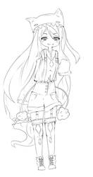 Character design [in progress ewe] by Rioneku
