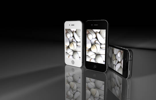 Iphone 4 3D white and black