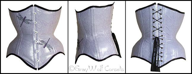Purple snake skin corset by GrayWolfCorsets