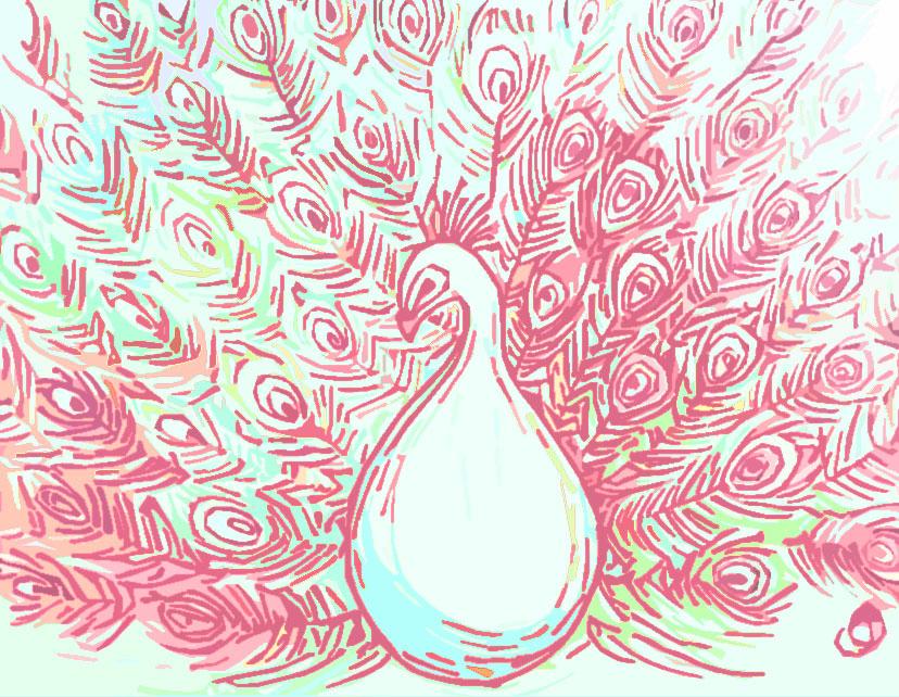 Peacocking by Sarah-Maxine