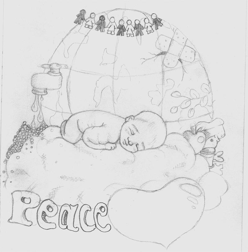 Peace sketch by Heartsdesire-fantasy