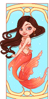 Art deco mermaid by Heartsdesire-fantasy