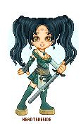 Anime inspired warrior by Heartsdesire-fantasy